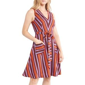 ModCloth Stripe Sleeveless Fit & Flare Dress